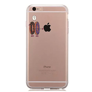 Kılıf Na Apple iPhone 7 Plus iPhone 7 Przezroczyste Wzór Czarne etui Zabawa z logiem Apple Miękkie TPU na iPhone 7 Plus iPhone 7 iPhone