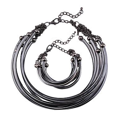 billige Mode Halskæde-Dame Kort halskæde Smykker Smykker Ædelsten Legering Mode Euro-Amerikansk Smykker Til Fest Speciel Lejlighed