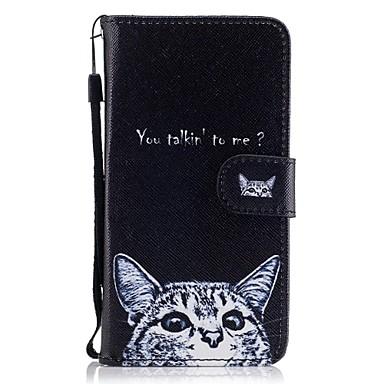 Maska Pentru Samsung Galaxy J5 (2016) J3 (2016) Titluar Card Portofel Cu Stand Întoarce Model Corp Plin Pisica Greu PU Piele pentru J5