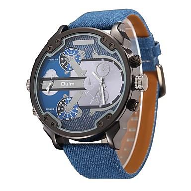 levne Pánské-Pánské Sportovní hodinky Vojenské hodinky Náramkové hodinky Pravá kůže Černá / Modrá / Hnědá Voděodolné Kalendář kreativita Analogové Přívěšky Luxus Vintage Na běžné nošení Skládaný - Tmavomodr