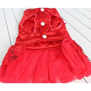 Σκύλος Φορέματα Ρούχα για σκύλους Χαριτωμένο Καθημερινά Μοντέρνα Πριγκίπισσα Κόκκινο Στολές Για κατοικίδια