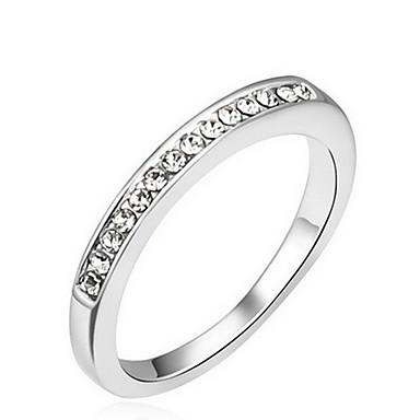 Evlilik Yüzükleri Mücevher Basic Tasarım Euramerican Değerli Taş Mücevher Beyaz Mücevher Için Parti Özel Anlar 1pc