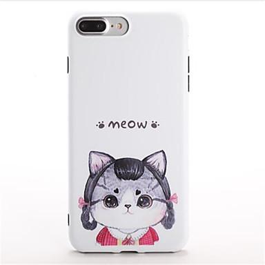 Varten Kuvio Etui Takakuori Etui Kissa Piirros Pehmeä TPU varten Apple iPhone 7 Plus iPhone 7