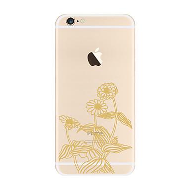 Etui Käyttötarkoitus Apple iPhone X iPhone 8 Plus Läpinäkyvä Kuvio Takakuori Kukka Pehmeä TPU varten iPhone X iPhone 8 Plus iPhone 8