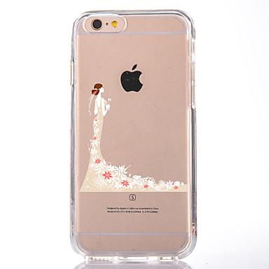 Varten Läpinäkyvä Kuvio Etui Takakuori Etui Seksikäs nainen Pehmeä TPU varten AppleiPhone 7 Plus iPhone 7 iPhone 6s Plus iPhone 6 Plus