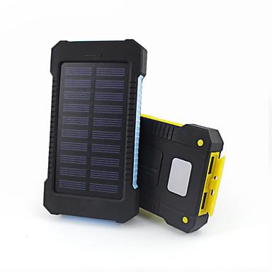 Bank zewnętrznego zasilania baterii 5V #A Ładowarka Wodoodporny Latarka Wiele wyjść Na energię słoneczną LED
