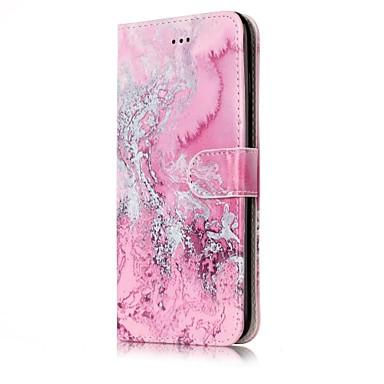 Maska Pentru Apple iPhone 7 Plus iPhone 7 Titluar Card Portofel Cu Stand Întoarce Magnetic Model Carcasă Telefon Marmură Greu PU piele