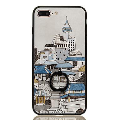 Pentru Suport Inel Model Maska Carcasă Spate Maska Vizualizare Oraș Greu PC pentru Apple iPhone 7 Plus iPhone 7