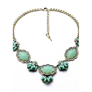 Kadın's Tellerinin Kolye Kristal Flower Shape Kişiselleştirilmiş Euramerican Açık Yeşil Mücevher Için Düğün 1pc