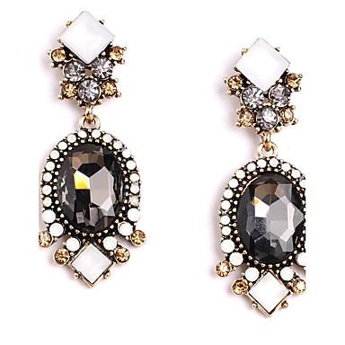 Damskie Kolczyki na sztyft Kryształ Okragły Modny euroamerykańskiej minimalistyczny styl Biżuteria Na Ślub Impreza Urodziny