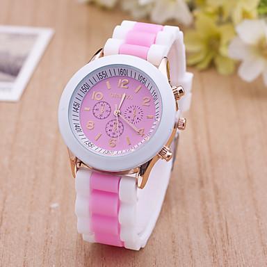 Pentru femei Ceas de Mână Ceas Elegant  Ceas La Modă Ceas Sport Quartz Mare Dial Silicon Bandă Charm Multicolor