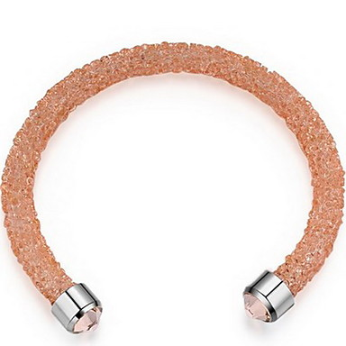 للمرأة أساور اصفاد مجوهرات الصداقة موضة كريستال سبيكة Geometric Shape مجوهرات من أجل حزب عيد ميلاد هدية