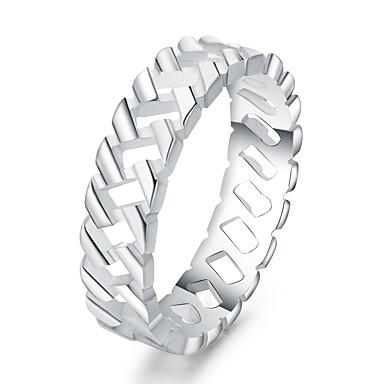 Жен. Кольцо - Серебрянное покрытие Сердце Euramerican 7 / 8 Серебряный Назначение Повседневные