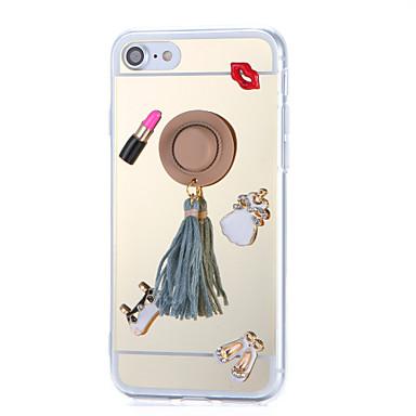 Pentru Stras Placare Oglindă Reparații Maska Carcasă Spate Maska Femeie Sexy Greu Acrilic pentru AppleiPhone 7 Plus iPhone 7 iPhone 6s