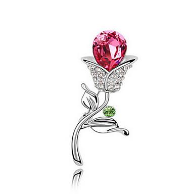 Kadın Broşlar Mücevher Eşsiz Tasarım Çiçekli Kişiselleştirilmiş Euramerican Kristal alaşım Mücevher Mücevher Uyumluluk Parti Günlük