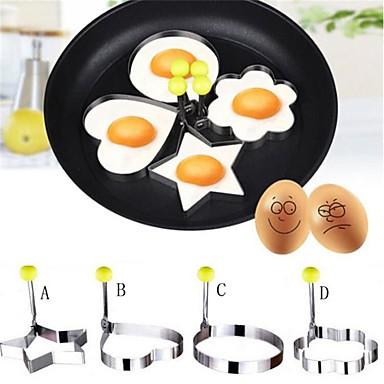 4pcs noi de proiectare patru forme oțel inoxidabil prajit ouă Shaper clătite mucegai mucegai bucătărie instrumente de gătit