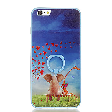 Na Uchwyt pierścieniowy Wzór Kılıf Etui na tył Kılıf Kreskówka Twarde PC na Apple iPhone 6s Plus iPhone 6 Plus iPhone 6s iphone 6