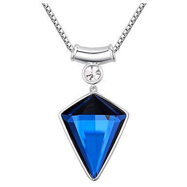 Damskie Naszyjniki z wisiorkami Kryształ Triangle Shape minimalistyczny styl W stylu brytyjskim Biżuteria Na