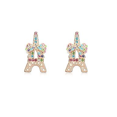Pentru femei Cercei Stud Cristal Personalizat Cute Stil Euramerican stil minimalist Bijuterii Pentru Nuntă Petrecere Zi de Naștere