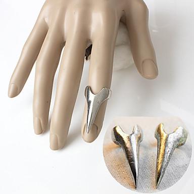 저렴한 반지-남성용 네일 핑거 링 유니크 디자인 패션 반지 보석류 골드 / 실버 제품 특별한 때 일상 캐쥬얼 5