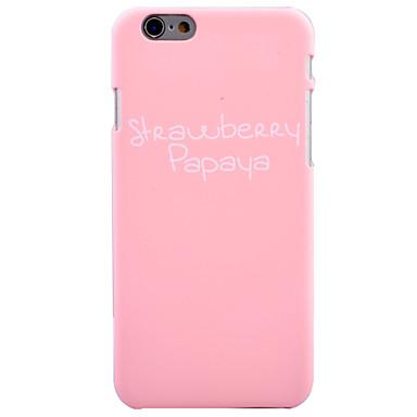 Için Temalı Pouzdro Arka Kılıf Pouzdro Kelime / Cümle Sert PC için AppleiPhone 7 Plus iPhone 7 iPhone 6s Plus iPhone 6 Plus iPhone 6s