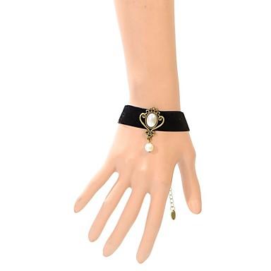 Damskie Bransoletki i łańcuszki na rękę Modny Koronka Oval Shape Crown Shape Black Biżuteria NaŚlub Impreza Specjalne okazje Urodziny