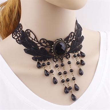 Lolita Stil Gotic Lănțișor Inspirație Vintage Negru Lolita Accesorii Mată Colier