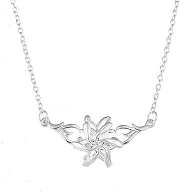 Naisten Flower Kukka-aihe Uniikki Logo Kukka Roikkuva Kukkaset Riipus-kaulakorut Korut Metalliseos Riipus-kaulakorut , Erikoistilaisuus