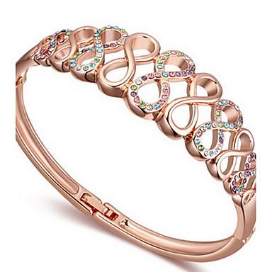 Damskie Bransoletki bangle Biżuteria Przyjaźń Modny Kryształ Stop Geometric Shape Biżuteria Na Impreza Urodziny