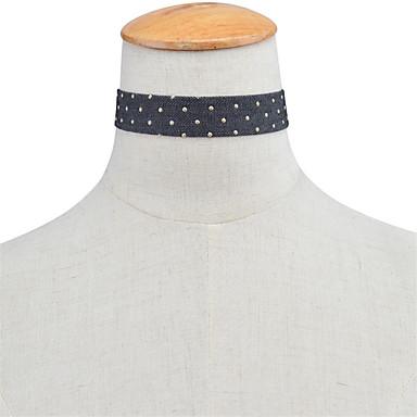 Damskie Pojedynczy Strand Podstawowy Modny euroamerykańskiej minimalistyczny styl Naszyjniki choker Biżuteria Materiał Naszyjniki choker ,