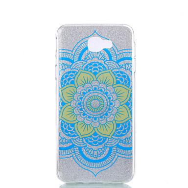 Etui Käyttötarkoitus Samsung Galaxy J7 Prime J5 Prime IMD Kuvio Takakuori Mandala Lace Printing Kimmeltävä Kova PC varten J7 (2016) J7