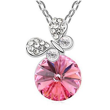 Damskie Naszyjniki z wisiorkami Kryształ Round Shape Okragły Podstawowy Biżuteria Na Impreza