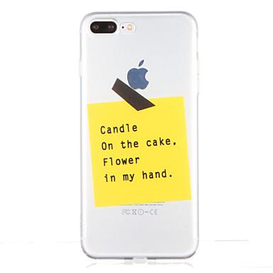 tok Για Apple iPhone 7 Plus iPhone 7 Διαφανής Με σχέδια Πίσω Κάλυμμα Λέξη / Φράση Μαλακή TPU για iPhone 7 Plus iPhone 7 iPhone 6s Plus