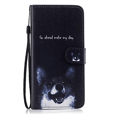 Etui Käyttötarkoitus Samsung Galaxy S8 Plus S8 Lomapkko Korttikotelo Tuella Flip Kuvio Kokonaan peittävä Koira Kova PU-nahka varten S8 S8