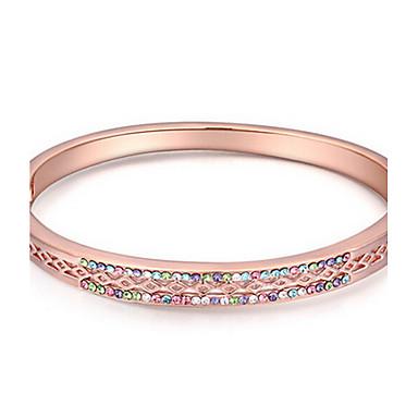 Kadın's Bilezikler Mücevher Arkadaşlık Moda Kristal alaşım Geometric Shape Mücevher Uyumluluk Parti Doğumgünü