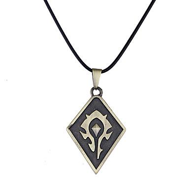 Bărbați Pentru femei Coliere cu Pandativ - Design Unic Stil Logo Stil Atârnat Vintage Euramerican Geometric Shape Negru Coliere Pentru