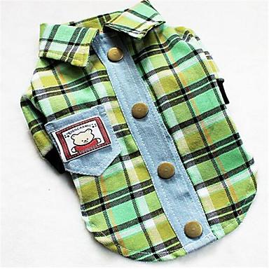 Koira T-paita Koiran vaatteet Rento/arki Englantilainen Purppura Keltainen Vihreä
