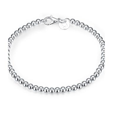 Damskie Dla dziewczynek Bransoletki i łańcuszki na rękę Przyjaźń Modny Postarzane Posrebrzany Round Shape Biżuteria Na Ślub Impreza