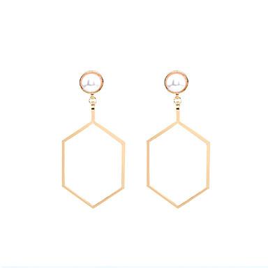 Cercei Dangle Imitație de Perle ObsidianStil Atârnat Geometric Imitație de Perle La modă Declaratie de bijuterii bijuterii de lux