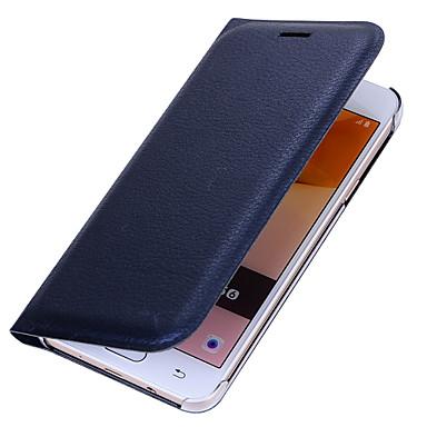 Etui Käyttötarkoitus Samsung Galaxy J7 Prime J5 Prime Korttikotelo Flip Kokonaan peittävä Yhtenäinen väri Kova PU-nahka varten J7 (2016)