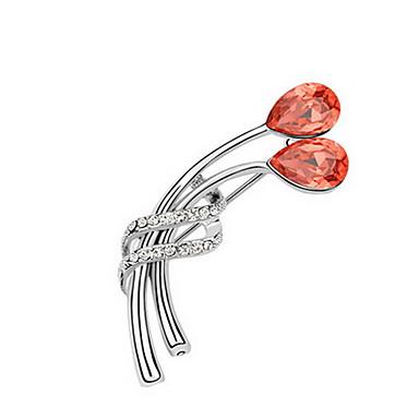 Kadın Broşlar Mücevher Eşsiz Tasarım Euramerican Kişiselleştirilmiş Kristal alaşım Mücevher Mücevher Uyumluluk Parti Günlük