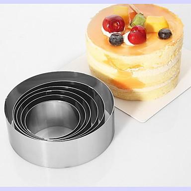 Bakeware-työkalut Ruostumaton teräs DIY Kakku paistopinnan