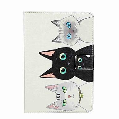 غطاء من أجل Apple محفظة حامل البطاقات مع حامل قلب نموذج كامل الجسم قطة قاسي جلد اصطناعي إلى iPad Mini 4 iPad Mini 3/2/1