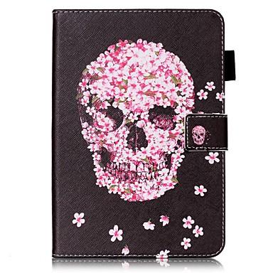 Maska Pentru Apple Portofel Titluar Card Cu Stand Întoarce Model Corp Plin Cranii Greu PU Piele pentru iPad Mini 4 iPad Mini 3/2/1