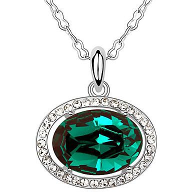 Γυναικεία Κρεμαστά Κολιέ Κρυστάλλινο Oval Shape Κυκλικό Κοσμήματα Για