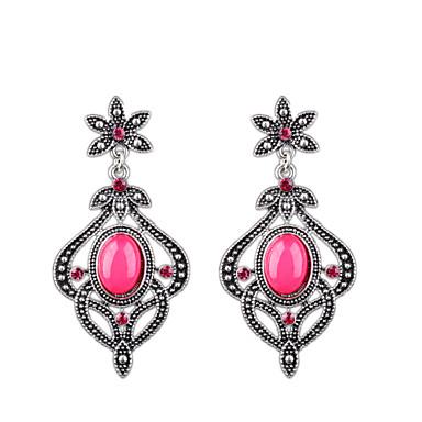 Damla Küpeler Moda Eski Tip Bohemia Stili Euramerican alaşım Mücevher Fuşya Mücevher Için Düğün Parti Günlük 1 çift