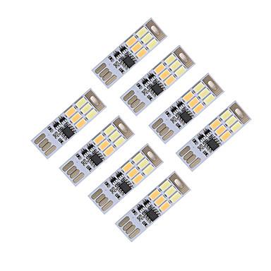 Brelong dimmer usb 3w 6x5730 gece ışık dokunmatik anahtarı çift ışıklı renk (dc5v) 8pcs
