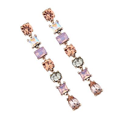 Damskie Kolczyki wiszące Biżuteria Artystyczny Modny euroamerykańskiej Kryształ Biżuteria Biżuteria Na Ślub Impreza Specjalne okazje