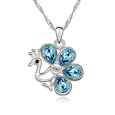 Kadın's Uçlu Kolyeler Kristal Animal Shape Klasik Çok güzel Mücevher Uyumluluk Günlük