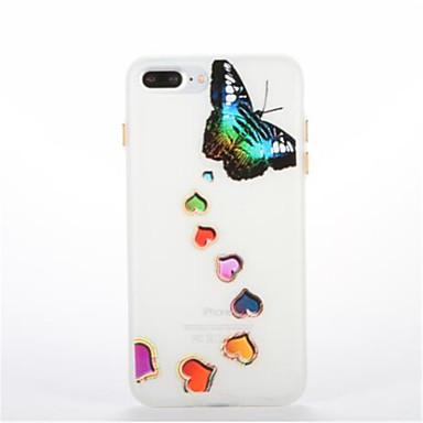 غطاء من أجل Apple يضوي ليلاً نموذج غطاء خلفي فراشة ناعم TPU إلى فون 7 زائد فون 7 iPhone 6s Plus iPhone 6 Plus iPhone 6s أيفون 6 iPhone
